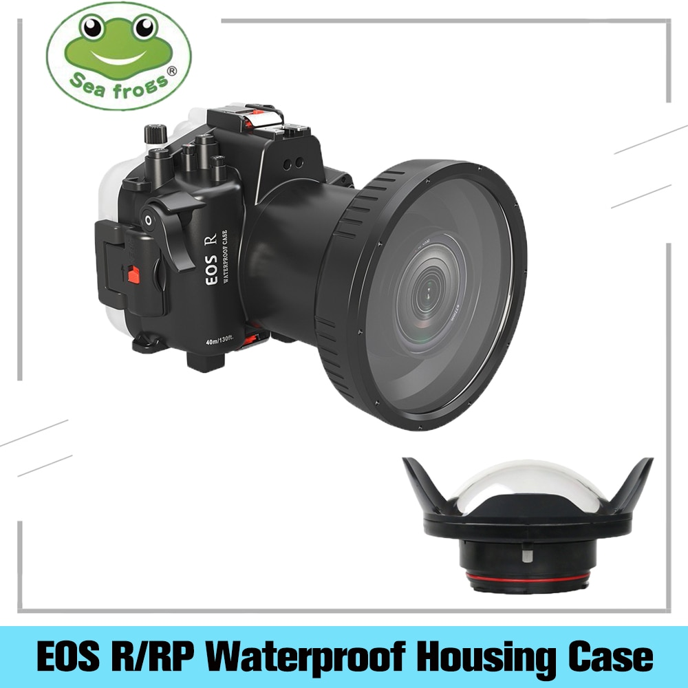 Searogs مثبت مضاد للماء لكانون EOS R/RP كاميرا مثبت مضاد للماء الحال 40 متر المهنية الغوص التصوير تحت الماء