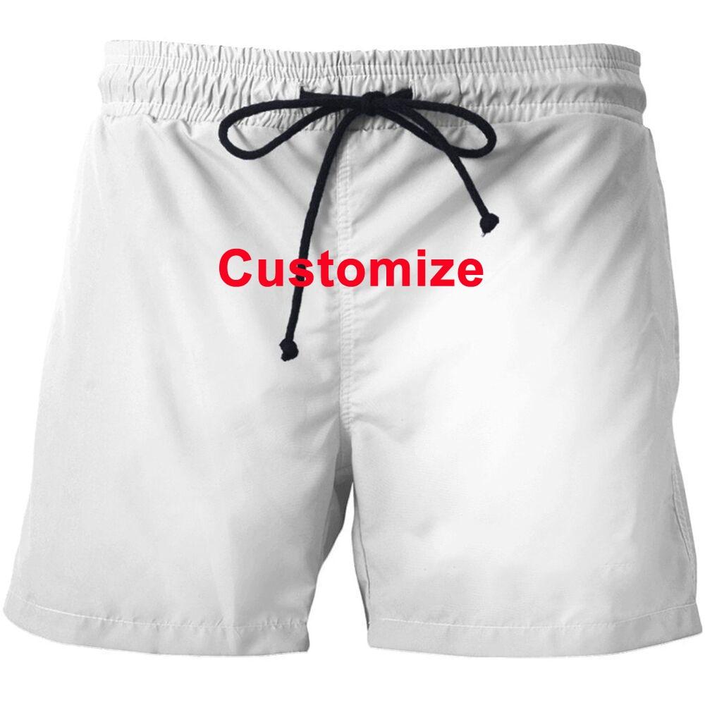 Customize 3D Digital Printing Beach Shorts For Men Drawstring Loose Casual Short Pants Summer Wear Quick Dry Unisex Board Shorts