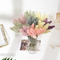 6pcs small fresh simulation hand zamizi wheat ears bouquet plastic flowers flower arrangement dried flowers