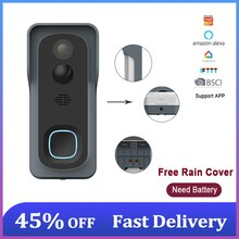 Wireless Video Doorbell 1080P With Camera Battery USB Chime Waterproof for Home Support Photo