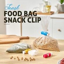 3pcs Fresh Food Bag Snack Clip Elastic Button Bread Bag Sealing Clip Plastic Bag Sealer Snack Fresh Food Storage Bag Clips