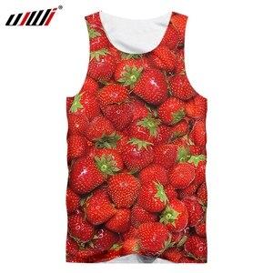 UJWI 3D New Harajuku Fruit Vest Women/men Cool Print Strawberry Flower Tank Top Man Singlets Hiphop Punk Style Sleeveless Shirts