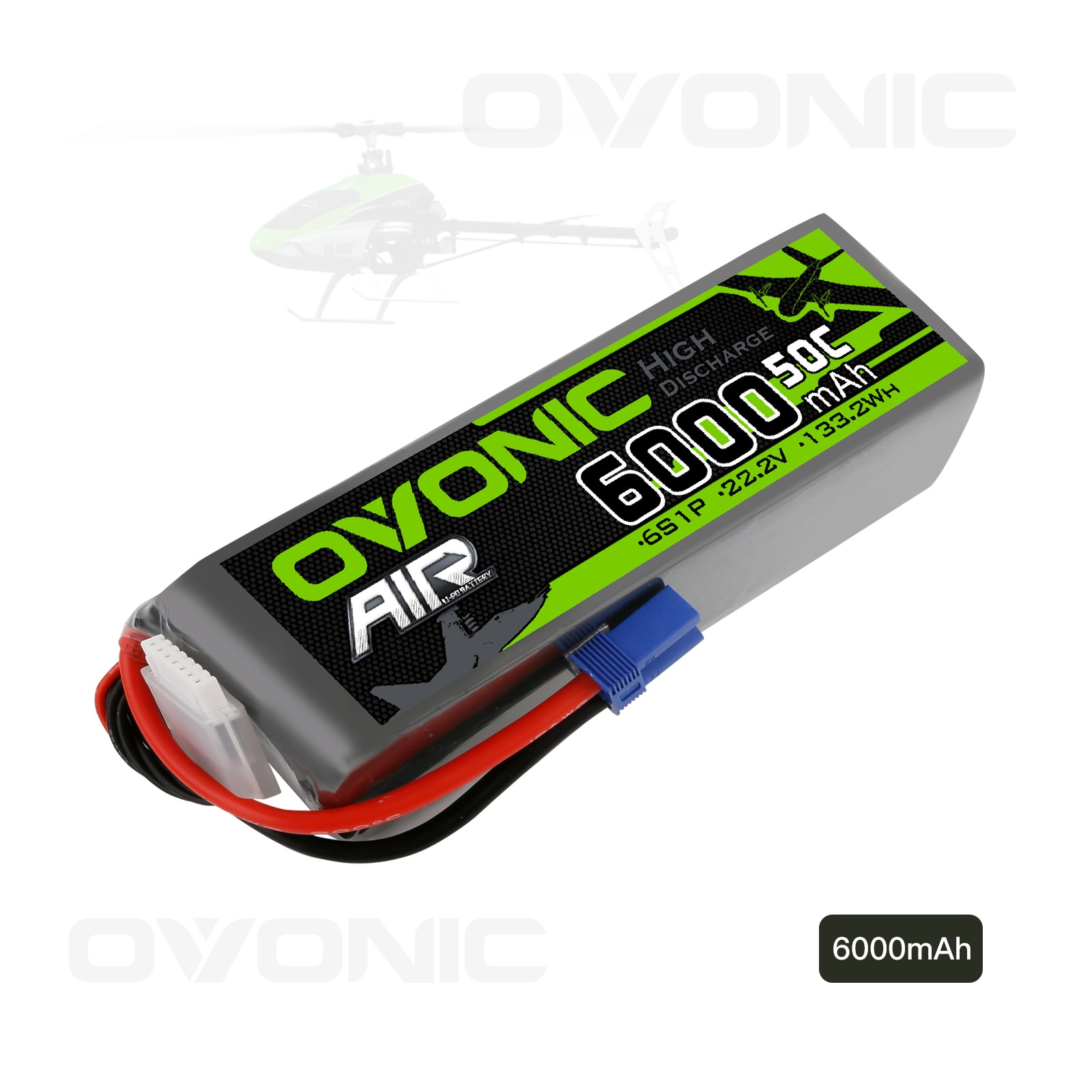 Ovonic Lipo Battery 22.2V 6000mAh 50C EC5 Plug 6S RC Lipo Batteries for RC Car Boat Truck Drone Racing FPV Helicopter