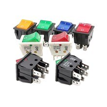 Interrupteur électrique pour Machine à souder   Interrupteur électrique avec lumière rouge 30A 250VAC, interrupteur pour four électrique, 4/6 broches, 2 positions