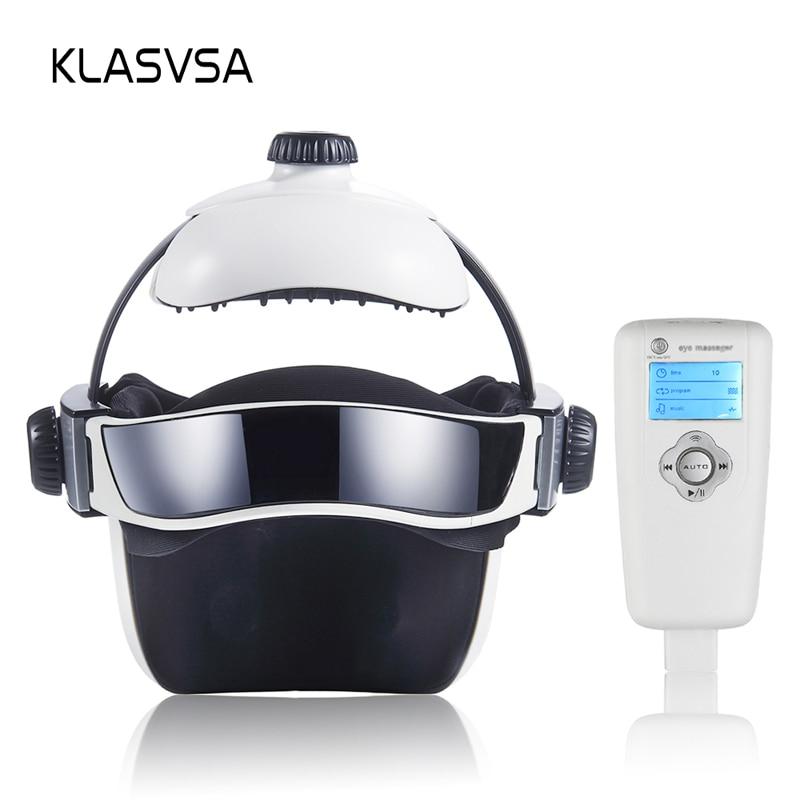 KLASVSA Electric Heating Neck Head Massage Helmet Air Pressure Vibration Therapy Massager Music Musc