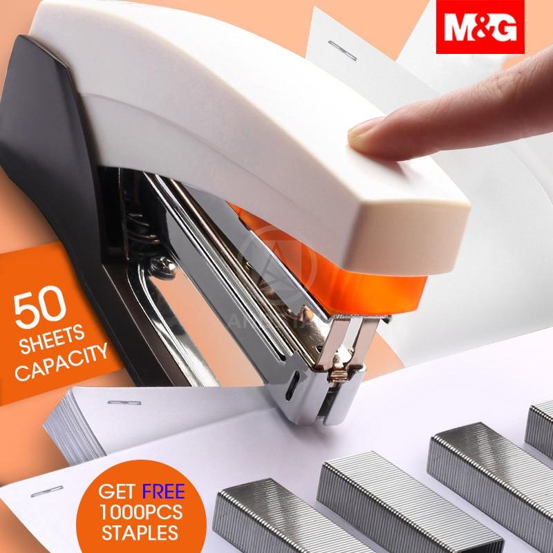 M & G 25/50 листов легкий энергосберегающий сверхмощный степлер мета сшивание бумаги скобами машина для школьные офисные принадлежности канце...