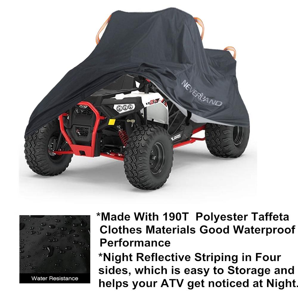 190T Waterproof Rain Proof Dust Anti-UV Beach Quad Bike ATV Cover Case For Polaris Motorcycle Covers M L XL XXL XXXL D20 enlarge