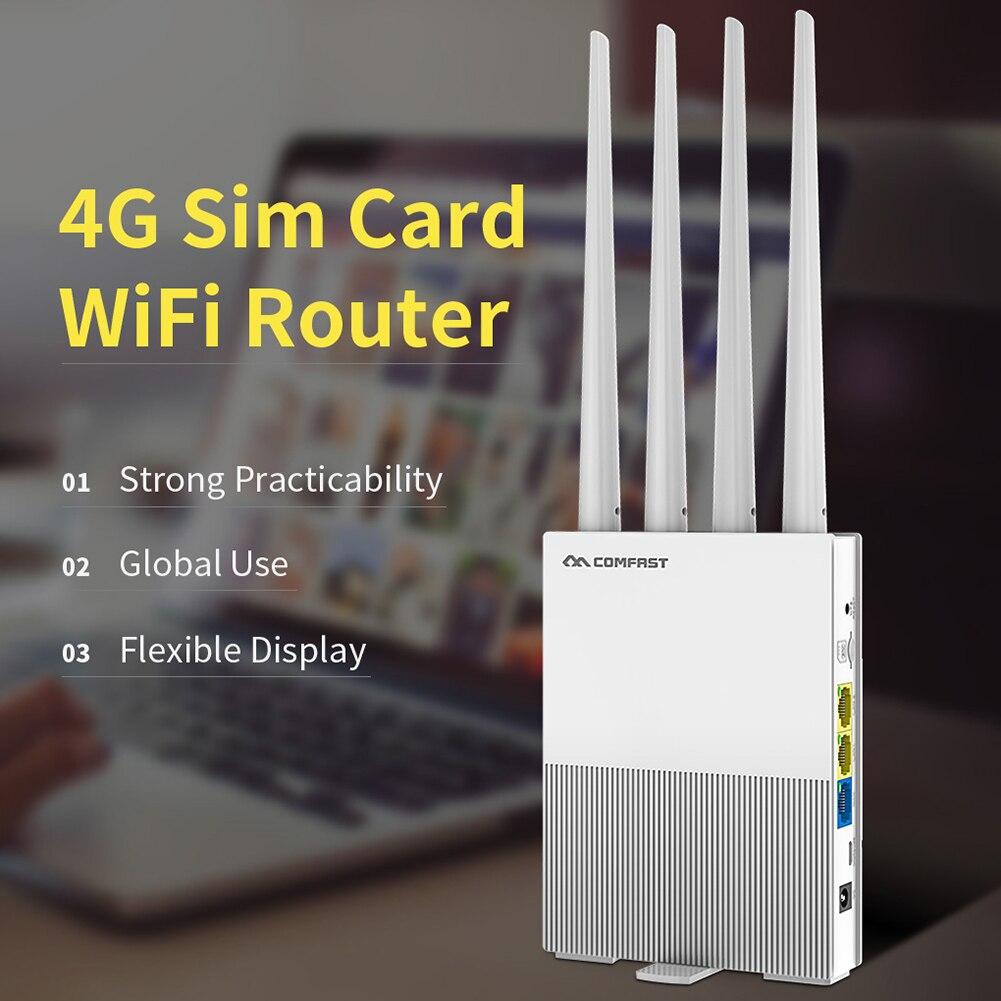 COMFAST CF-E3 2.4GHz Wireless Wifi Router Outdoor 4G SIM Card Wireless 4 Antennas Industrial Grade CPU High Speed WiFi Router