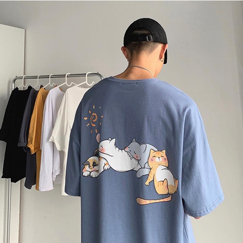 AliExpress - Harajuku Summer Kawaii Cartoon Print t Shirts Vintage Korean Version Trend All-Match Clothes Casual Hip Hop Creative Streetwear