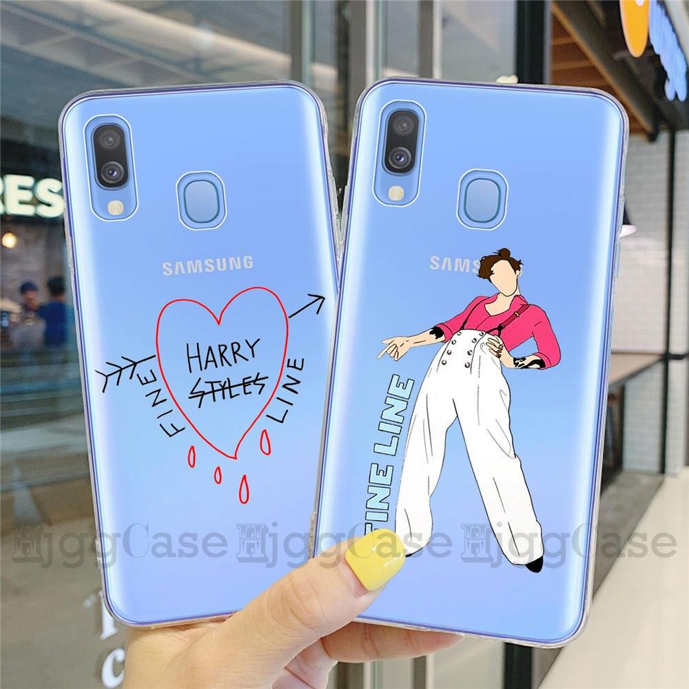 Harry estilos amor no tour 2020 linha fina caixa do telefone para samsung galaxy a10 a20 a30 a40 a50 a60 a70 a8 clara capa de silicone macio