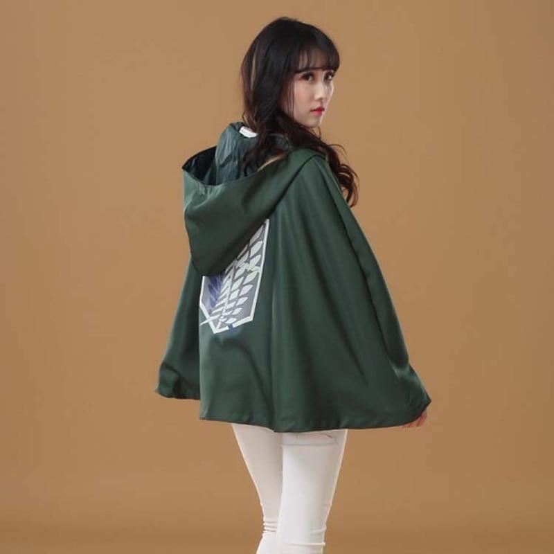 Японское худи «атака на Титанов», плащ Shingeki no Kyojin, костюм скаута легиона для косплея аниме, зеленая накидка, мужская одежда