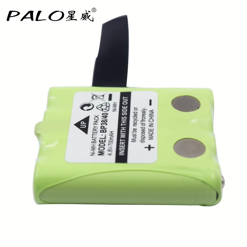 PALO 4,8 V 700mAh NI-MH batería para Uniden BP-38 BP-40 BT-1013 para MOTOROLA TLKR T4 T5 T6 T7 T8 GMR baterías FRS