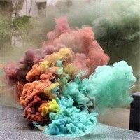 1 Набор дымовой торт цветной яркий эффект показать круглый бомбовидный студийный инструмент для фотосъемки 6 цветов цвет s (случайный цвет)