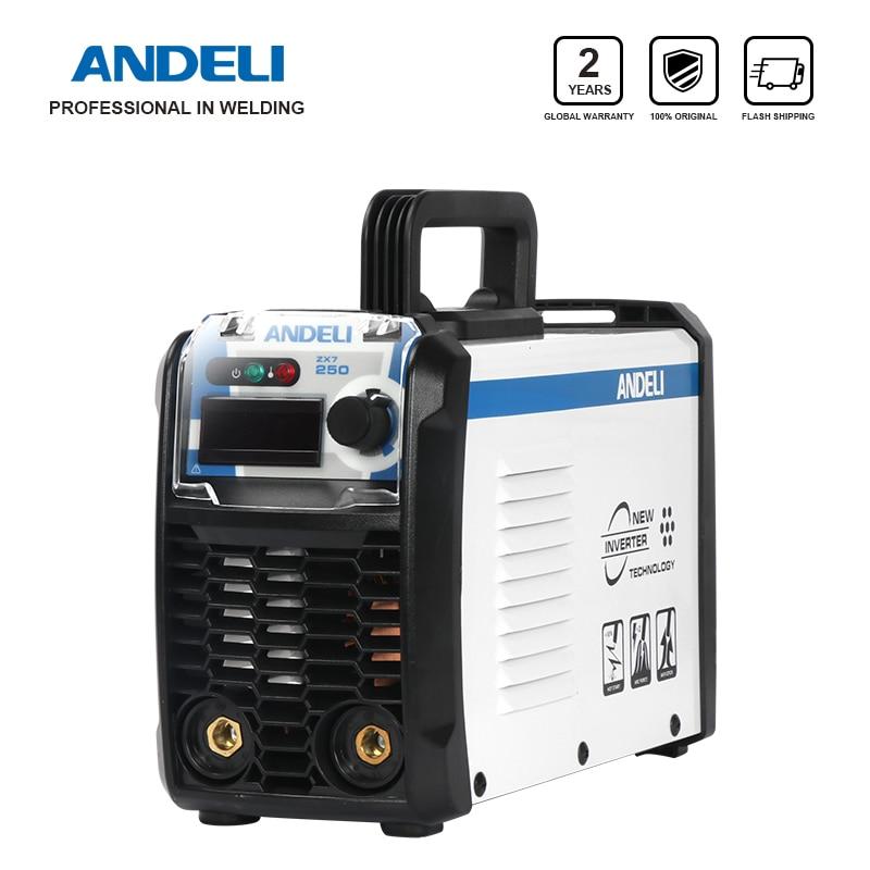 ANDELI ARC-250E 250A IGBT Inverter DC ARC Schweiß Maschine MMA Schweißer für Schweiß Arbeiten und Elektrische Arbeits mit Zubehör