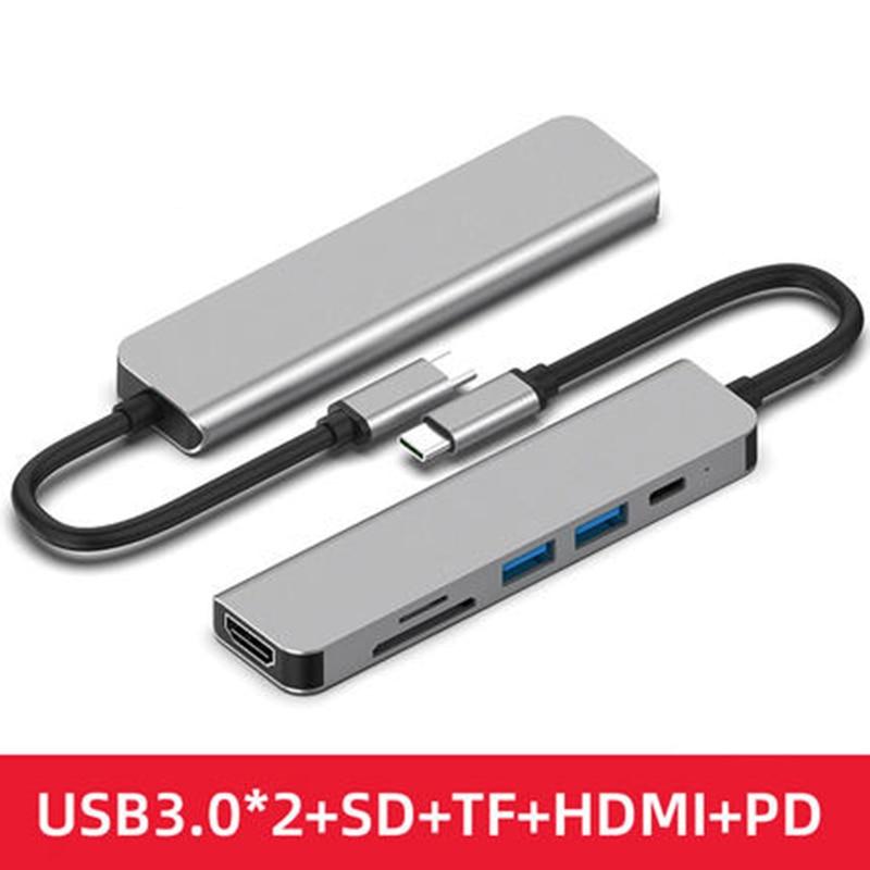 USB C HUB نوع C hub مع HDMI USB 3.0 محول PD شحن ميناء لماك بوك برو سامسونج غالاكسي S8 هواوي P20 Usb-c Hub