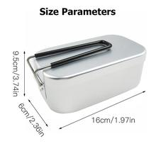 3 pièces en plein air camping cuisinière boîte à déjeuner boîte à vapeur ensemble pliable en aluminium alimentaire conteneur léger portable batterie de cuisine