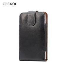 OEEKOI housse de ceinture en cuir véritable pour Philips S561/S397/S260/S562Z/S395/S327/X596/X598/Xenium X818/S653H
