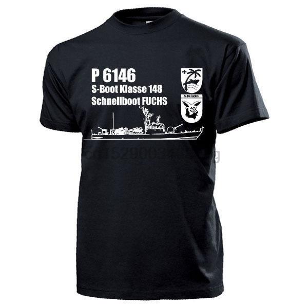Новинка 2019 Футболка мужская футболка панк топы Schnellboot S46 Fuchs P6146 S-Boot Klasse 148 Schiff Bundeswehrtee рубашка с принтом