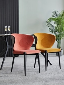 Dining Chair Nordic Fabric Make Up Hotel Dining Chairs 4 Colors Desk Chair Chaises Salle Manger кресло для отдыха