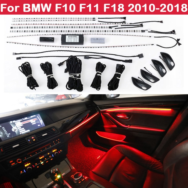 9-color automatic conversion Car neon interior door ambient light decorative lighting for BMW 5 series F10 F11 F18 2010-2018