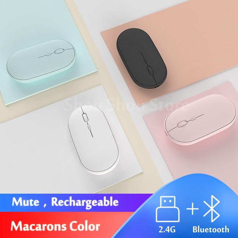 Silent Mice Rechargeable Bluetooth Mouse For Lenovo Miix510 Miix520 Miix320/300/310/325/Miix4/5/Pro / Yoga Book Ideapad Laptop