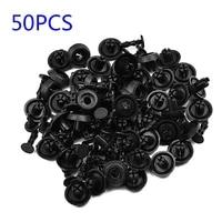 50pcs fasteners 7mm fastener push clip black auto vehicle door trim panel retainer fastener for toyota camry highlander carola
