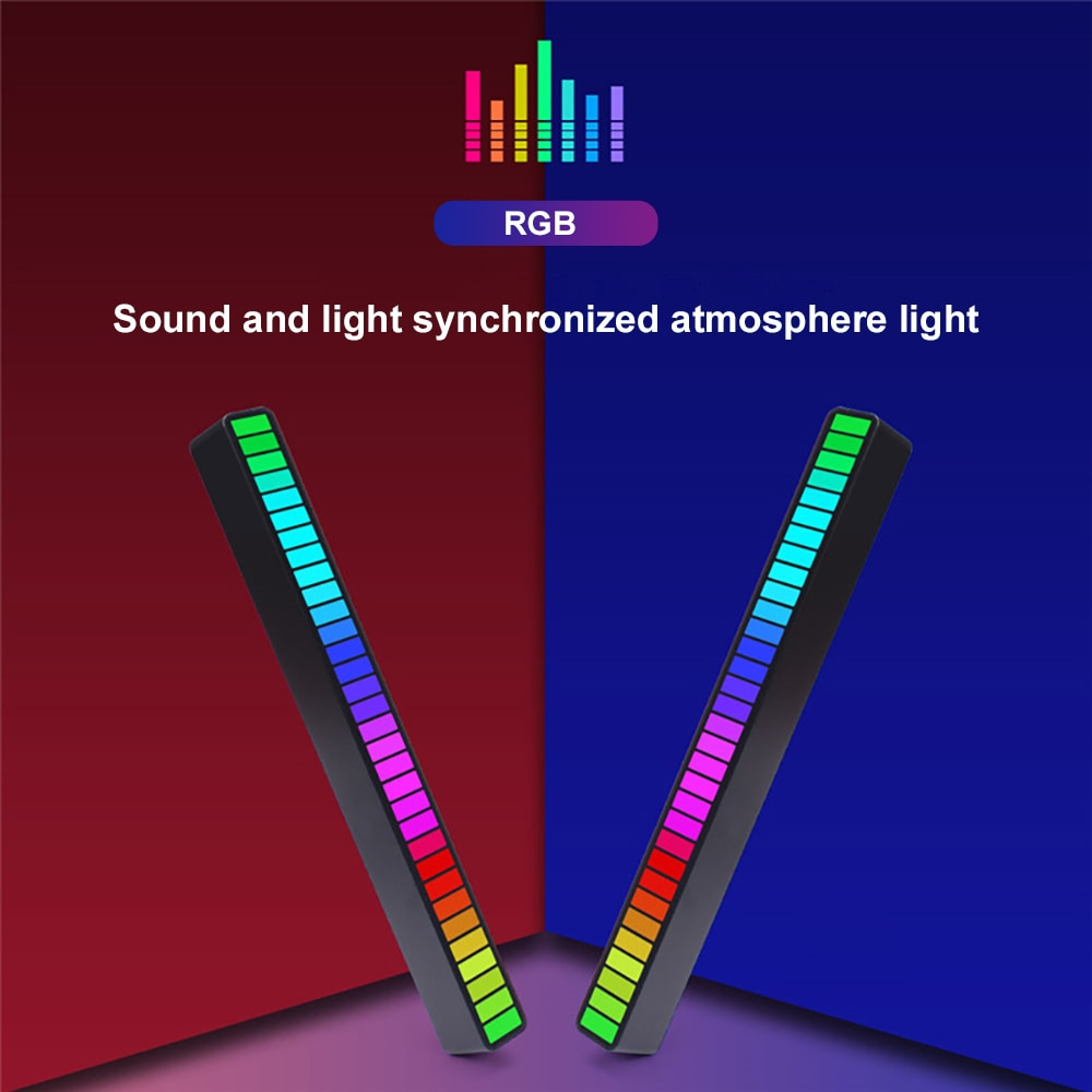 Car LED Lights Sound Control Pickup Rhythm Light Music Atmosphere Led lamp RGB Colorful Tube USB for Auto Accessories Home Light enlarge