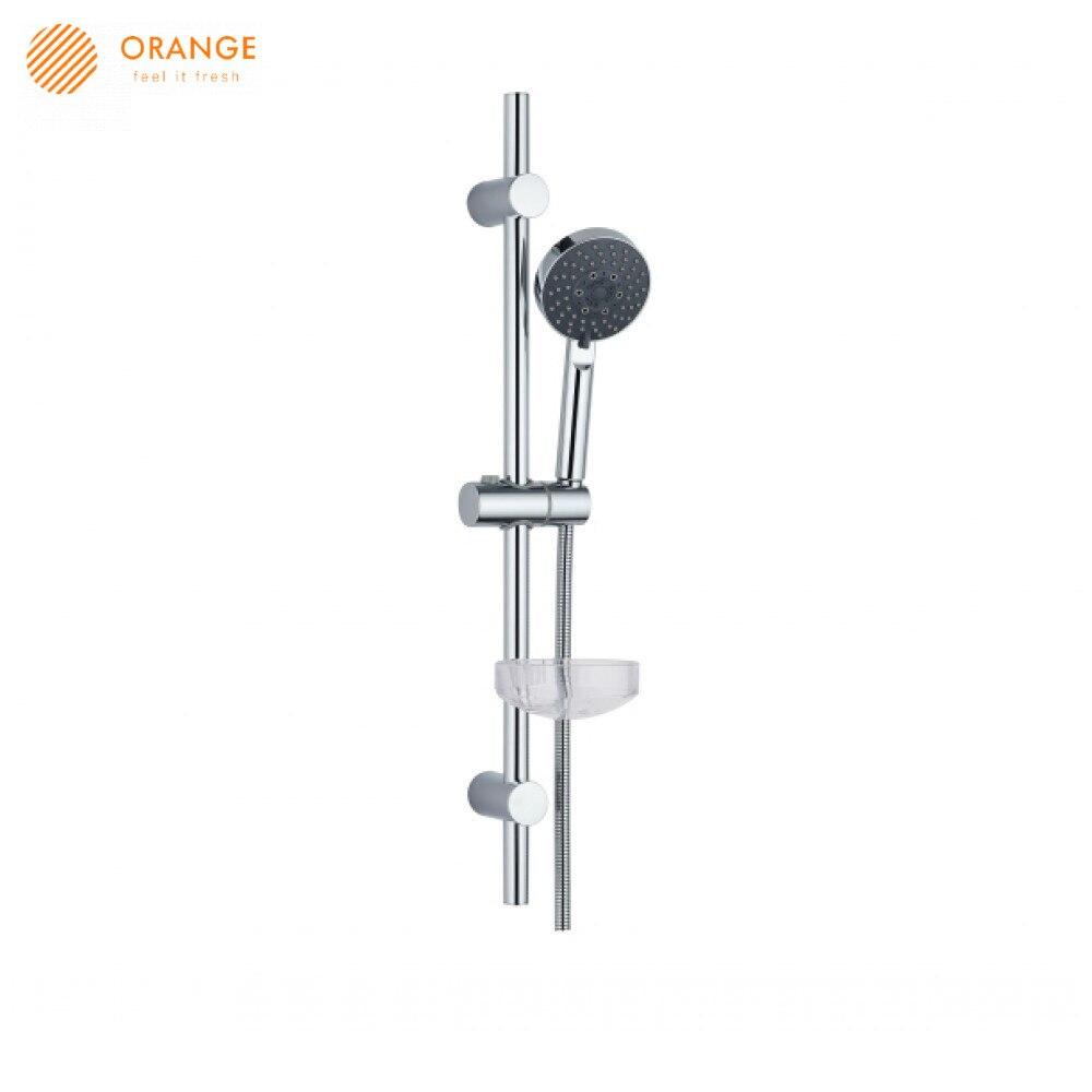 Sistema de ducha naranja A022 para mejorar el hogar grifos de accesorios de baño Baño ducha de lluvia auriculares sistema de regadera CON MEZCLADOR Agger