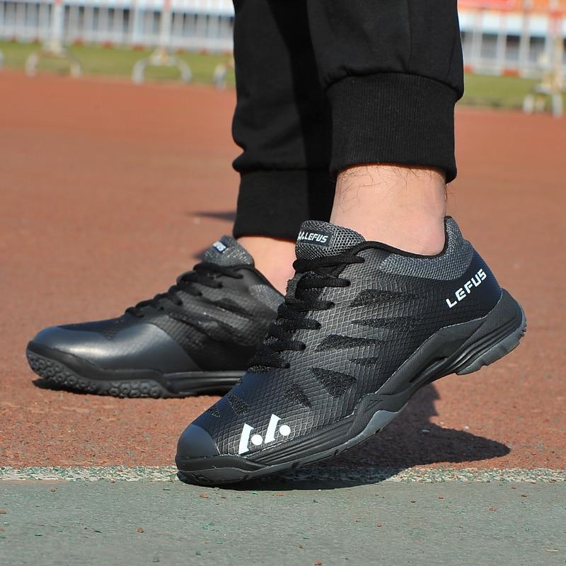 Новинка 2020, брендовая мужская обувь для бадминтона, легкая тренировочная обувь для телячьего мышечного тенниса, черные, оранжевые мужские Нескользящие кроссовки для бадминтона-4