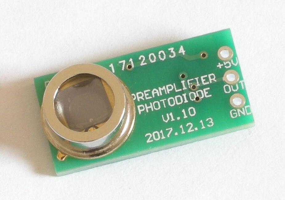 Módulo amplificador de fotodiodo Módulo de detección de intensidad de luz medidor de iluminancia