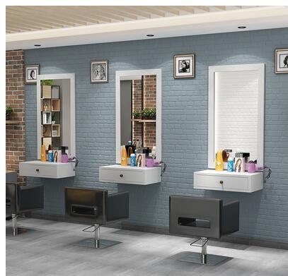 مرآة تصفيف الشعر ، صالون الشعر ، حامل مرآة ، سطح مضادة ، حامل مرآة تصفيف الشعر على الحائط ، مرآة مثبتة على الجدار