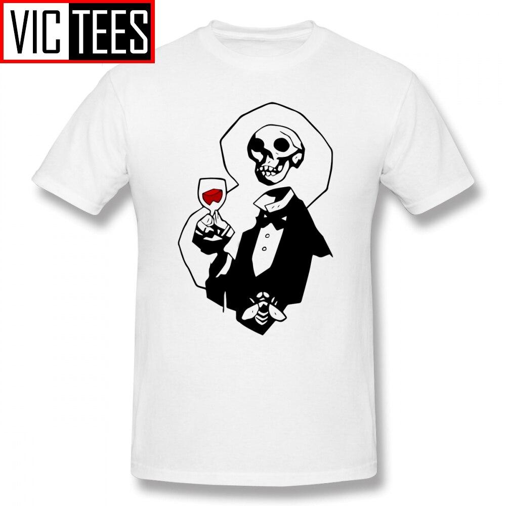 Camisetas Hellboy para hombre, camiseta con cabeza de esqueleto, camiseta impresionante de talla grande, camiseta gráfica de algodón clásico para hombre