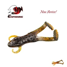 "KESFISHING Bog Frog Lure 3.2"" 2pcs Fishing lures Top Water Lure Silicone Fishing Tackle Leurre souple 8cm/12.5g Free shiping"