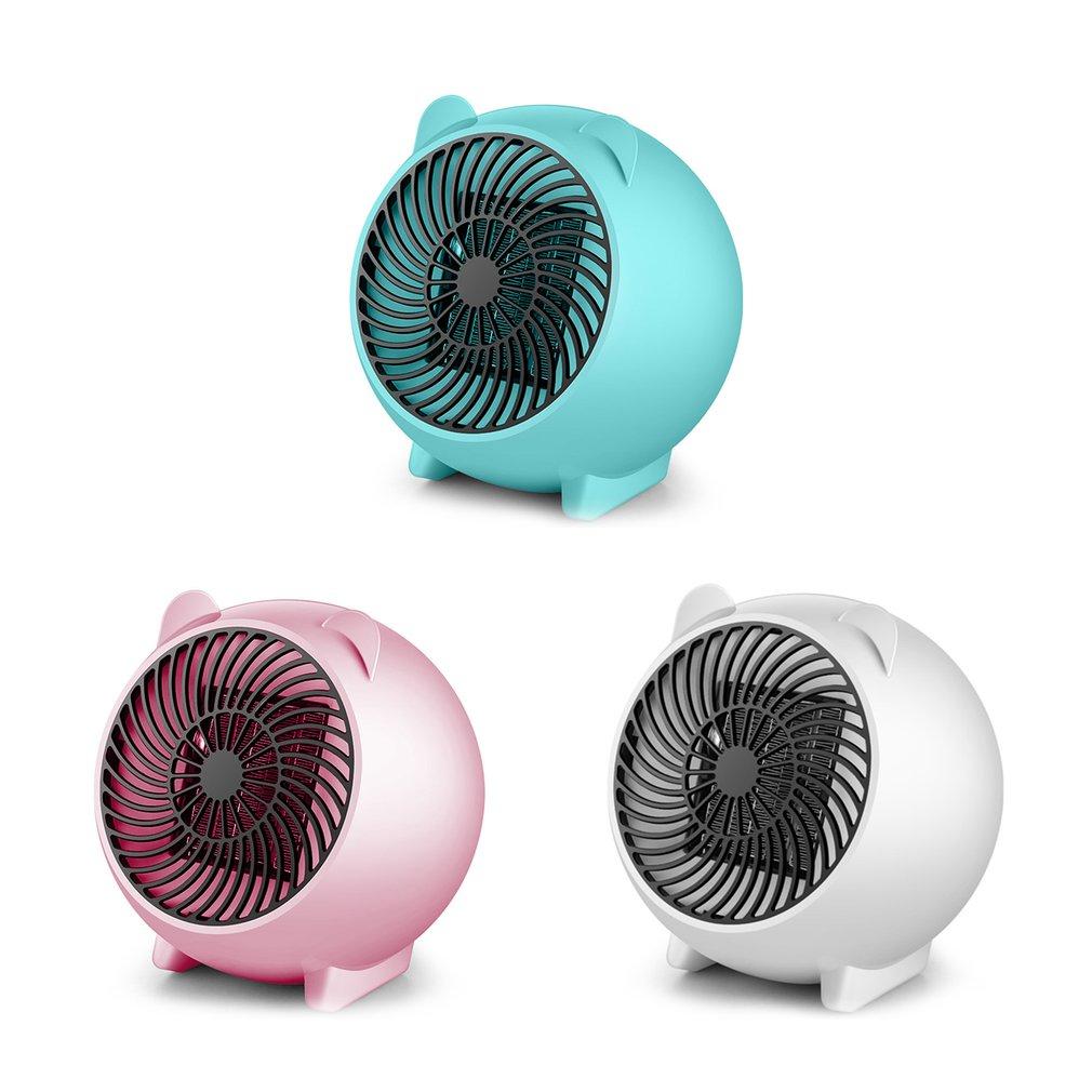 Nuevos minicalentadores de dibujos animados de 2018 Mini calentadores de mesa pequeños calentadores eléctricos domésticos calentadores eléctricos azul dropshipping