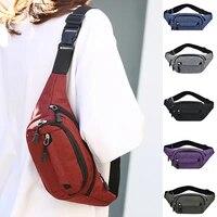 male men waist bag pack casual functional money phone belt bag women bag for belt canvas hip oxford waist bag fanny pouch