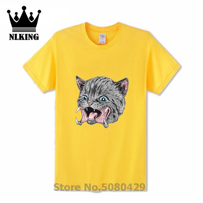 Camiseta de manga corta de gato gatito Predakitten camiseta de Humor de gato monstruo Chewie-Camisetas De Hombre con dientes de miedo meow ciudad oscura camisetas