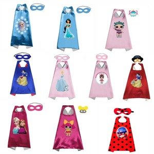 Плащи для принцесс с маской для мальчиков и девочек, на день рождения вечерние пользу одеваются костюмы на Хэллоуин «Холодное сердце» накидка платье принцессы-Русалочки с аниме косплей