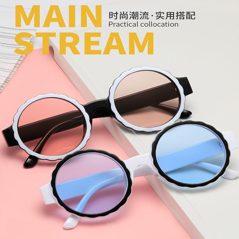 Стиль; Новинка; В стиле ретро; В круглой оправе трендовая Мужская и женская мода очки, солнцезащитные очки с оправой уличной съемки очки