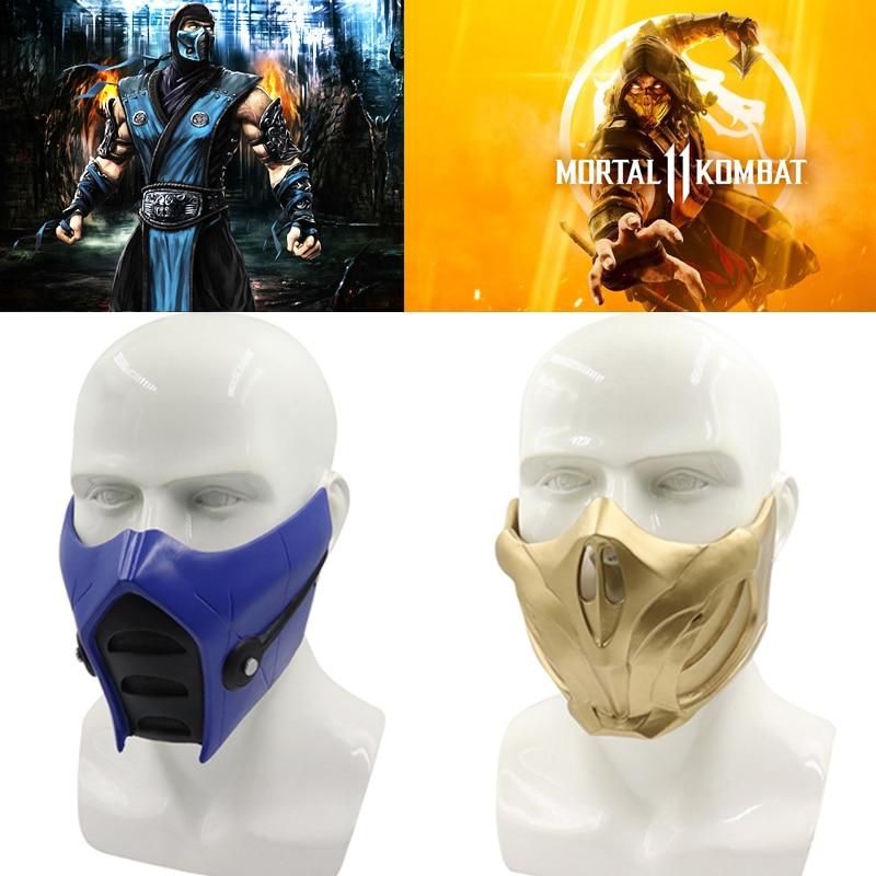 Игра Mortal Kombat 11 маска скорпиона косплей реквизит Смола унисекс Хэллоуин аксессуары маски