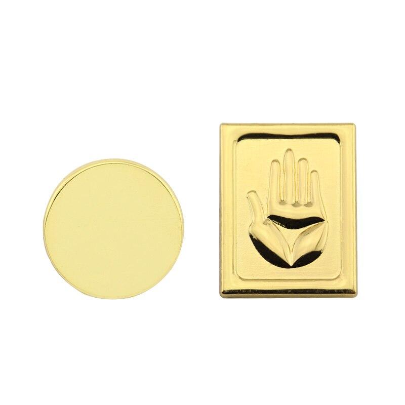 2Pcs JOJOS BIZARRE ADVENTURE Brooch pins Round Brooches Metal Kujo Jotaro Hats Badge Pin Accessory Jewelry for gift Dropshipping