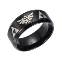 stainless steel eagle triangle pattern ring mens ring new fashion metal black ring accessories party jewelry size 7 13