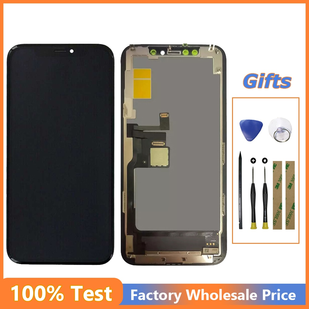 Get LCD Dispaly For iPhone 11 Pro Max A2218 A2161 A2220 Touch Screen Digitizer Assembly+Tools