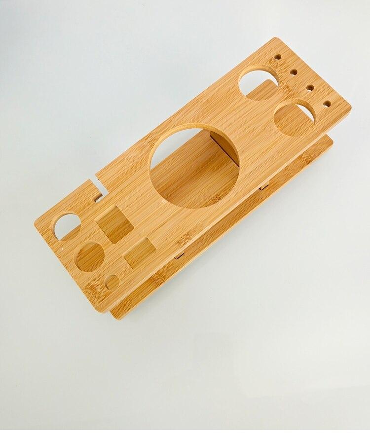 inoxidável com quadro de bambu retangular