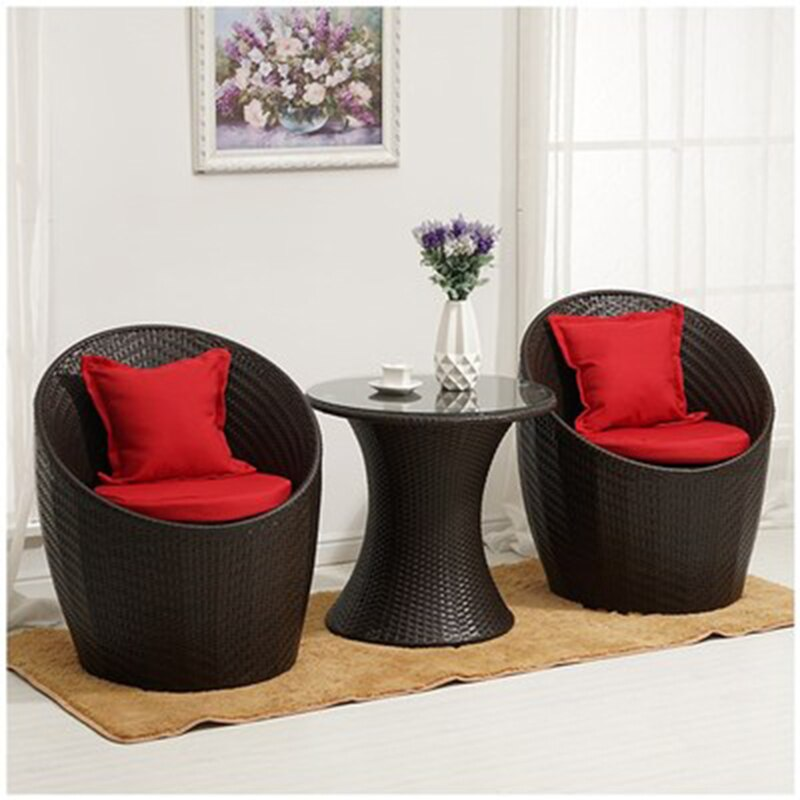 rattan chairs outdoor furniture garden Relaxing patio furniture set Balcony Tables and...