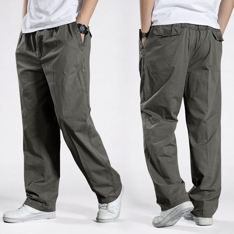 Брюки мужские повседневные, хлопок, свободный фасон, шаровары, тактические штаны, s 2021 6XL, размера плюс