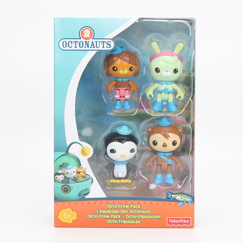 Octonauts pçs/set 4 Capitão figura brinquedo Pacote Tripulação Octonauts Peso Shellington Ajustar Dashi PVC Action Figure Modelo Toy Dolls 7cm