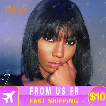 Bliss Wigs Short Wig 100% Human Hair Wigs Short Brazilian Wigs Pixie Cut Wigs Cheap Human Hair Full Machine Short Wig for Women