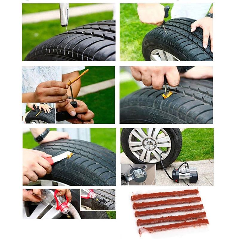 5 шт. 100*6 мм автомобиль бескамерные шины с защитой от проколов шин ремонтная полоса Авто бескамерная шина для мотоцикла шины с защитой от про...