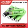 Liitokala חדש NCR18650B 3.7v 3400 mAh 18650 ליתיום נטענת סוללה עם מחודד (אין PCB) סוללות