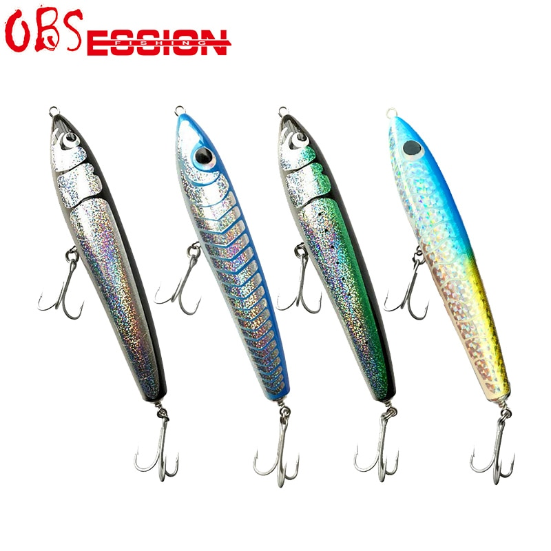 Wooden GT Surface Trolling Lure 70g90g120g140g Saltwater Deep Sea Fishing Popping Pencil Bait with Origin Treble hooks Stickbait enlarge